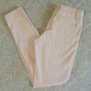 Mossimo Pink and gold skinny jeans. Size 2